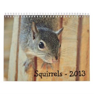 Calendario de 2013 ardillas