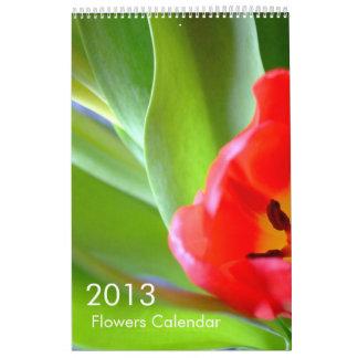 Calendario de 2013 flores