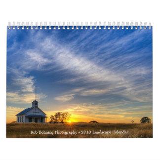 Calendario de 2013 paisajes por la fotografía de R