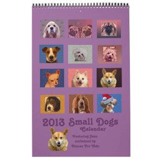 Calendario de 2013 pequeño perros