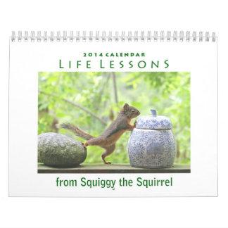 Calendario de 2014 ardillas - lecciones de la vida