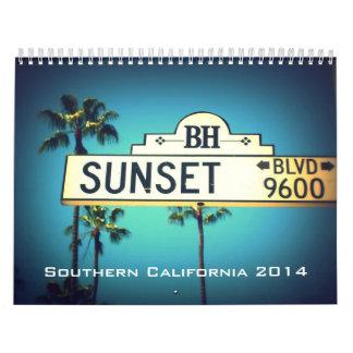 Calendario de 2014 California meridional Californi