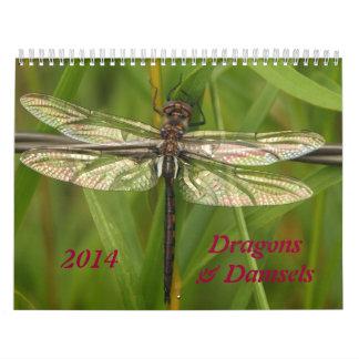 Calendario de 2014 libélulas y de los Damselflies