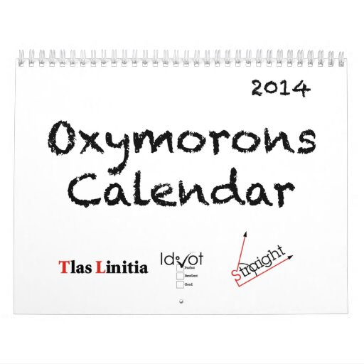 Calendario de 2014 Oxymorons