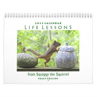 Calendario de 2015 ardillas - lecciones de la vida