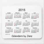Calendario de 2015 blancos por Janz con días de Alfombrillas De Ratón