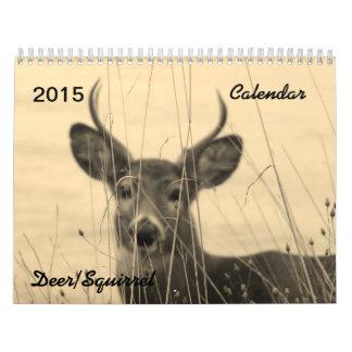 Calendario de 2015 ciervos/de la ardilla