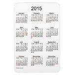 Calendario de 2015 días de fiesta por el imán de
