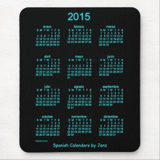 Calendario de 2015 españoles por Janz Alfombrilla De Ratón