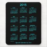 Calendario de 2015 españoles tapetes de ratones