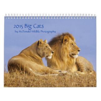 Calendario de 2015 gatos grandes por la foto de la