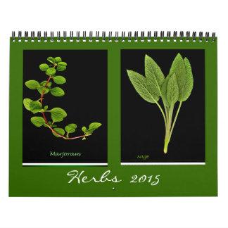 Calendario de 2015 hierbas