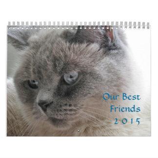 Calendario de 2015 mascotas de los mejores amigos