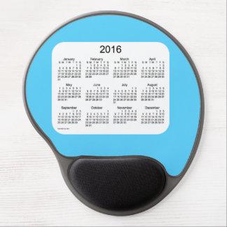 Calendario de 2016 azules cielos por el gel alfombrilla con gel