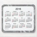 Calendario de 2016 días de fiesta por el cojín de alfombrillas de ratones