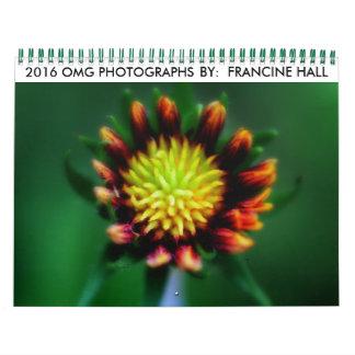 Calendario de 2016 flores