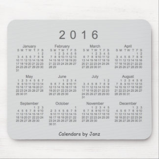 Calendario de 2016 grises de Janz Mousepad