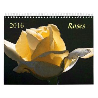Calendario de 2016 rosas