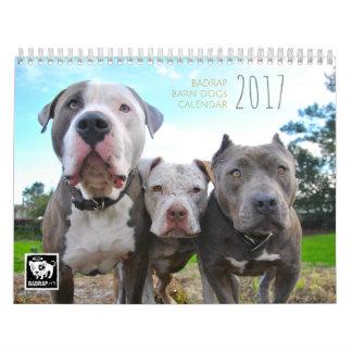 Calendario de 2017 de BADRAP perros del granero