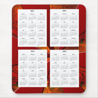 Calendario de 4 años (2012-2015) en los vagos alfombrillas de raton