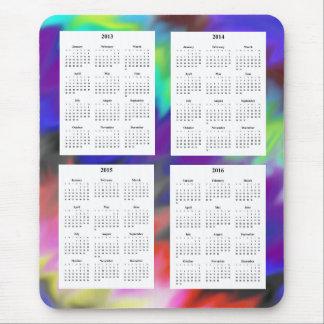 Calendario de 4 años 2013-2016 tapetes de raton