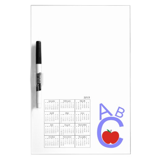 Calendario de ABC Apple 2015 Tableros Blancos