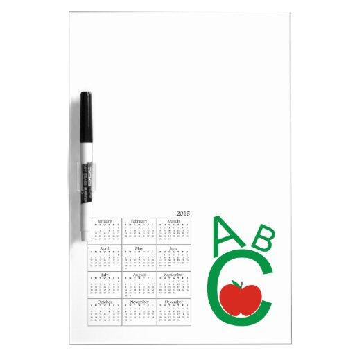 Calendario de ABC Apple 2015 Pizarra Blanca