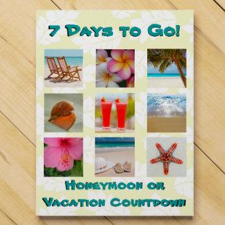 Calendario de adviento de las vacaciones de la lun