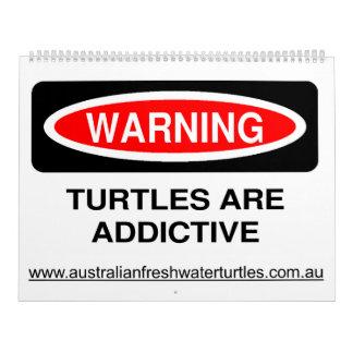 Calendario de agua dulce australiano de la tortuga