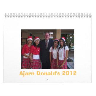Calendario de Ajarn Donald 2012
