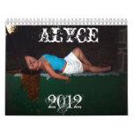 Calendario de Alyce 2012