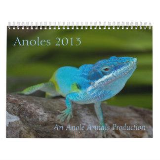 Calendario de Anoles 2013