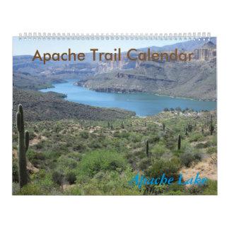 Calendario de Arizona del rastro de Apache