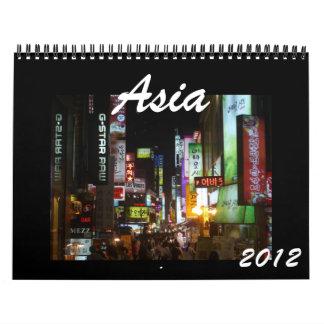 calendario de Asia 2012