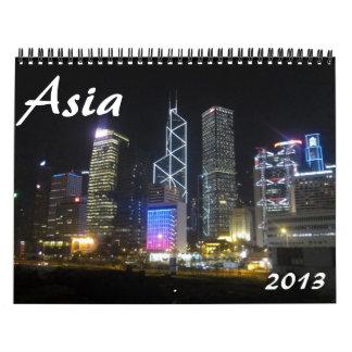 calendario de Asia 2013