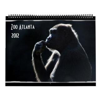Calendario de Atlanta 2012 del parque zoológico