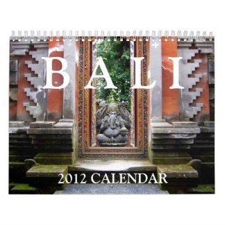 Calendario de Bali 2012