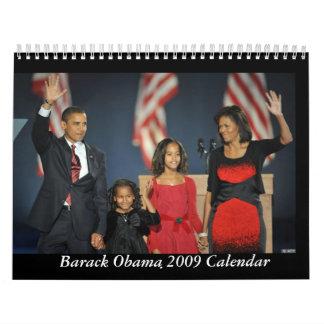 Calendario de Barack Obama y de la familia 2009