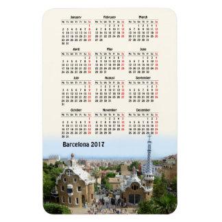 Calendario de Barcelona, España 2017 Imanes