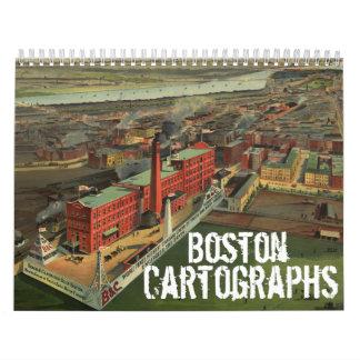 Calendario de Boston Cartographs del vintage
