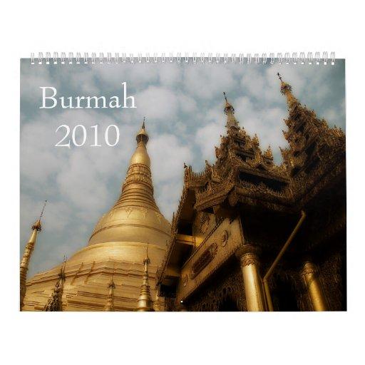 Calendario de Burmah 2010