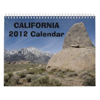 Calendario de California 2012