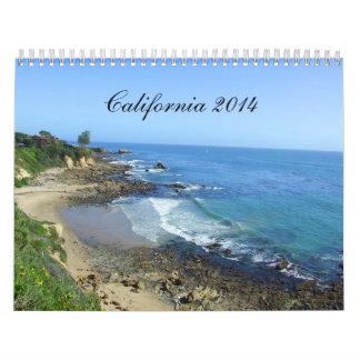 Calendario de California, calendario de 2014 viaje