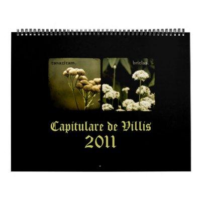 Calendario de Capitulare de Villis 2011