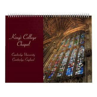 Calendario de College Chapel 2010 de rey
