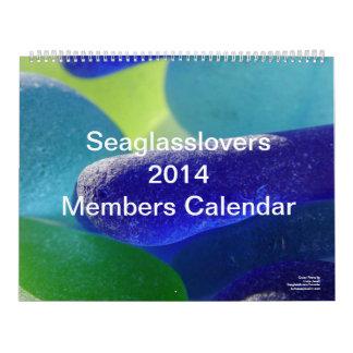 Calendario de cristal 2014 del miembro de los aman