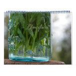 Calendario de cristal azul