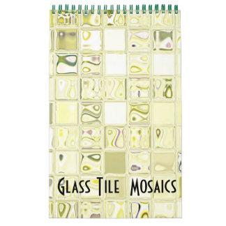 Calendario de cristal de los mosaicos
