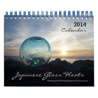 Calendario de cristal del flotador de 2014 japones