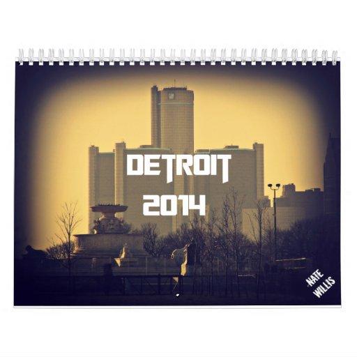 Calendario de Detroit 2014